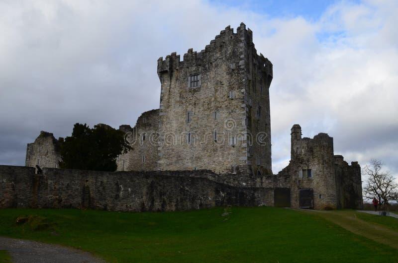 Torenhoge Ruïnes van Ross Castle in Killarney Ierland stock afbeeldingen