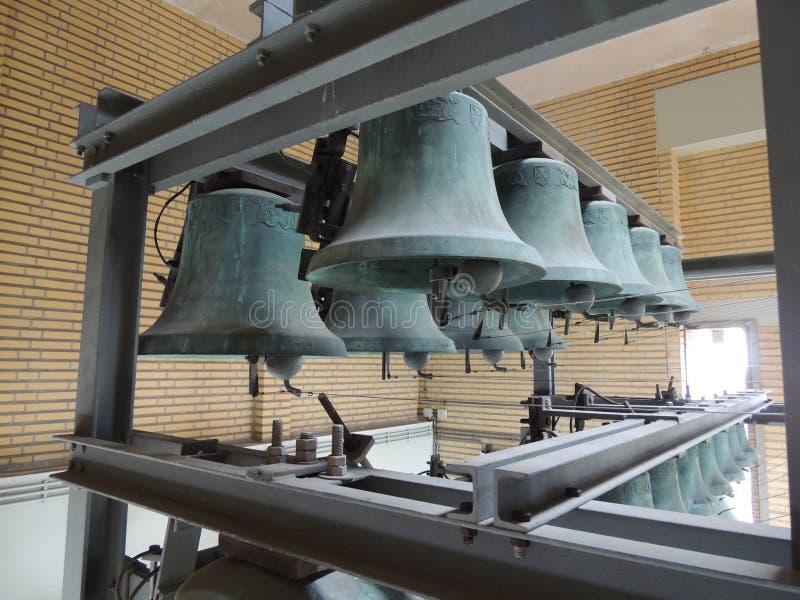 Torenklokken bij Stadhuis van Hilversum, Nederland, Europa royalty-vrije stock afbeeldingen