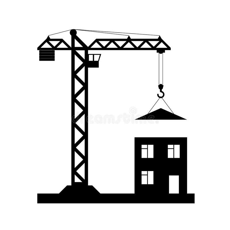 Torenkraan - Vector geïsoleerd pictogram royalty-vrije stock foto