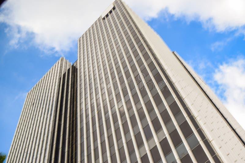 Torens en flats de de van de binnenstad van Los Angeles op een duidelijke de winterdag royalty-vrije stock fotografie