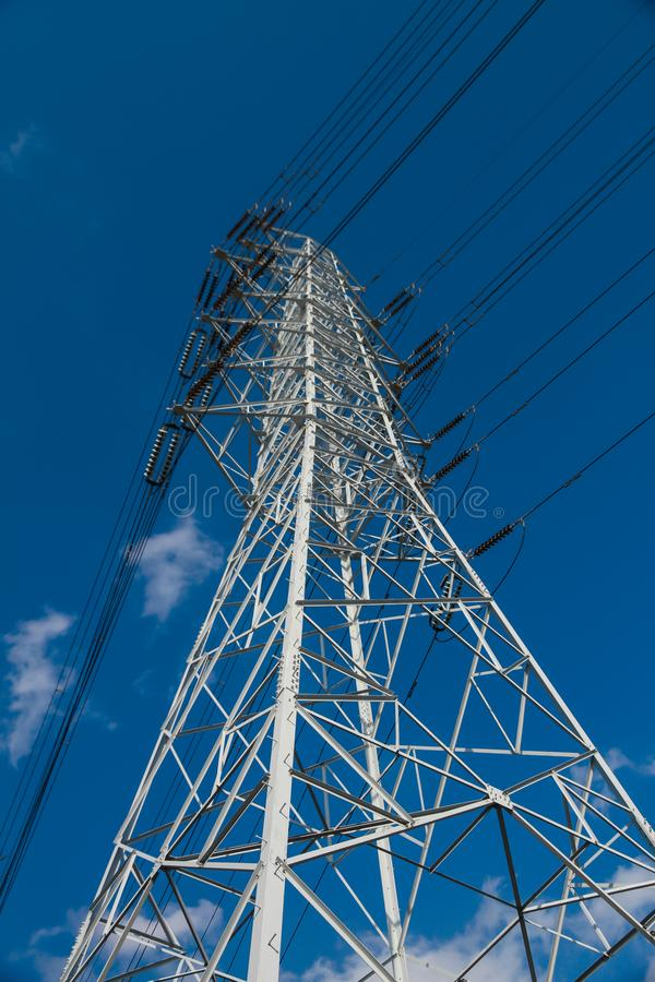 Torens met hoog voltage royalty-vrije stock fotografie