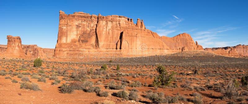 Torens van Babel in Bogen Nationaal Park Utah royalty-vrije stock afbeeldingen