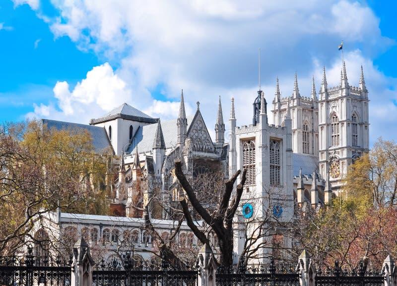Torens van de Abdij van Westminster, Londen, het UK stock afbeelding