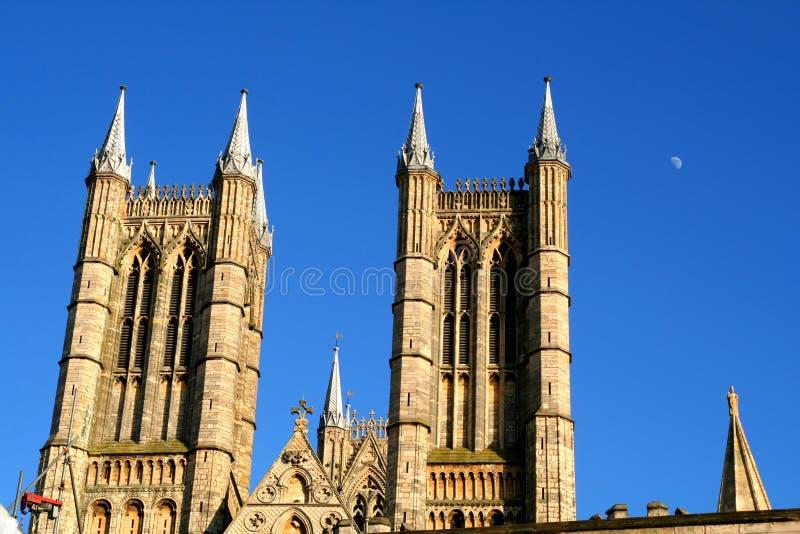 Torens van de Kathedraal van Lincoln. stock foto