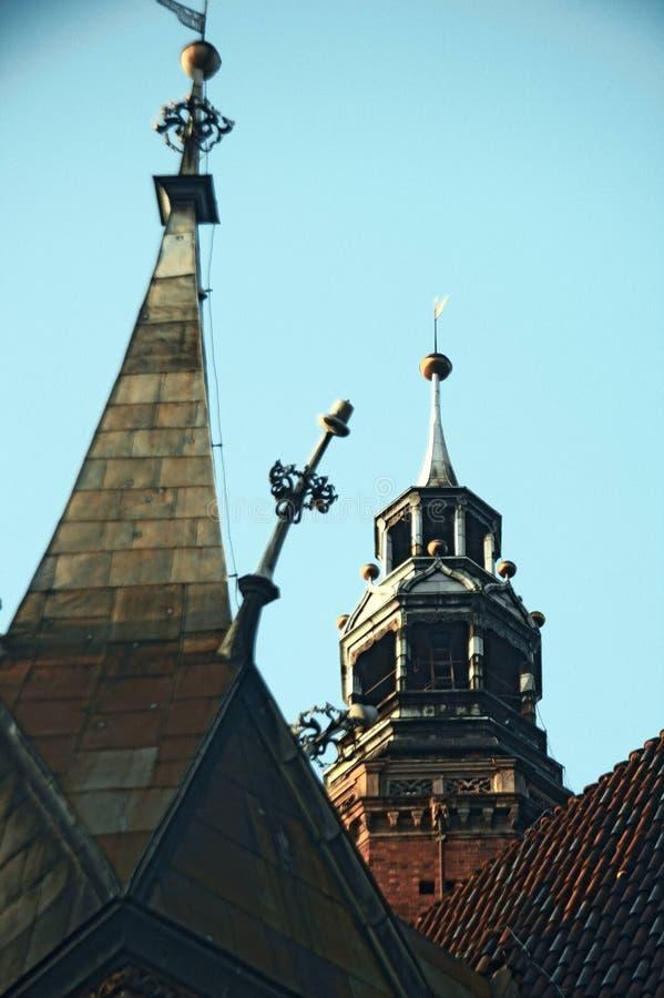 Torens van het stadhuis van Wroclaw royalty-vrije stock foto's