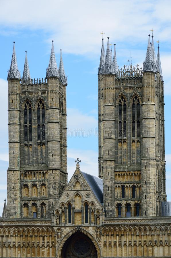 Torens van Lincoln Cathedral stock afbeelding