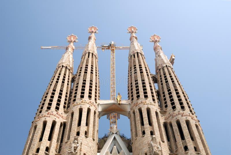 Torens van Sagrada Familia, Barcelona, Spanje royalty-vrije stock foto