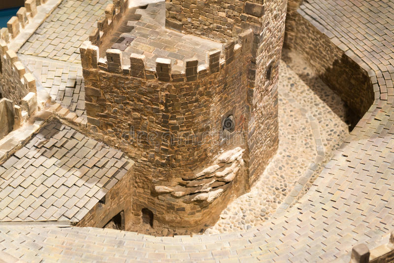 Torentje bij het kasteel van Xavier stock fotografie