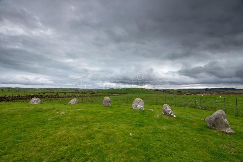 Torhouse kamienia okrąg, newton Stewart, Dumfries i Galloway, W ten sposób zdjęcia royalty free
