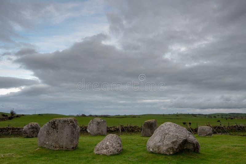 Torhouse kamienia okrąg, newton Stewart, Dumfries i Galloway, W ten sposób fotografia stock