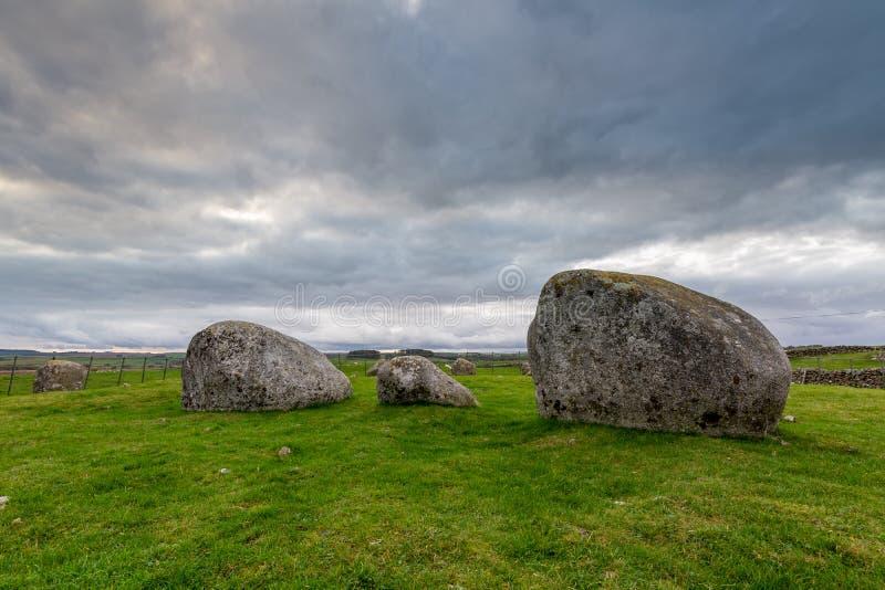 Torhouse kamienia okrąg, newton Stewart, Dumfries i Galloway, W ten sposób zdjęcie stock