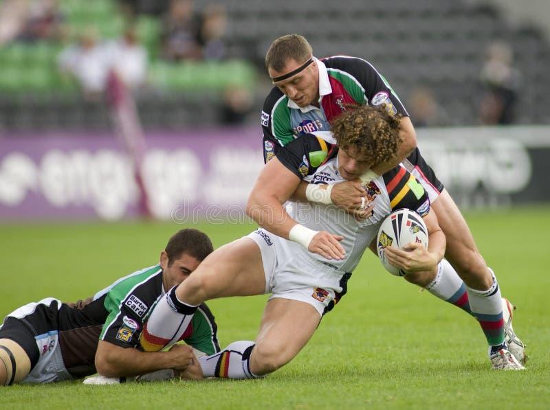 Tori della lega v Bradford di rugby dei Harlequins immagine stock libera da diritti