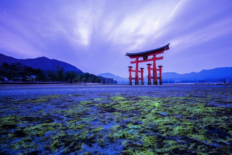 Tori in Hiroshima Japan. Tori gate in Hiroshima Japan stock photo