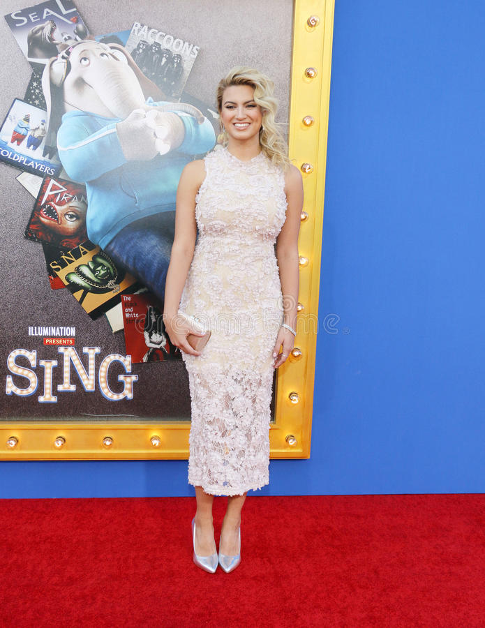 Tori Kelly. At the Los Angeles premiere of `Sing` held at the Microsoft Theater in Los Angeles, USA on December 3, 2016 stock images