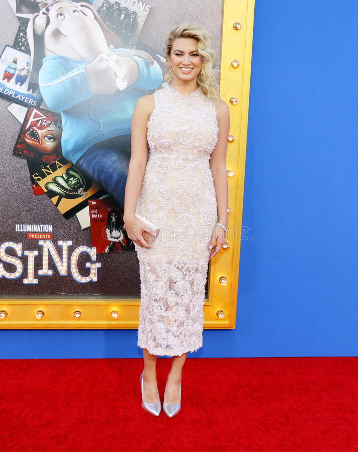 Tori Kelly. At the Los Angeles premiere of `Sing` held at the Microsoft Theater in Los Angeles, USA on December 3, 2016 stock image