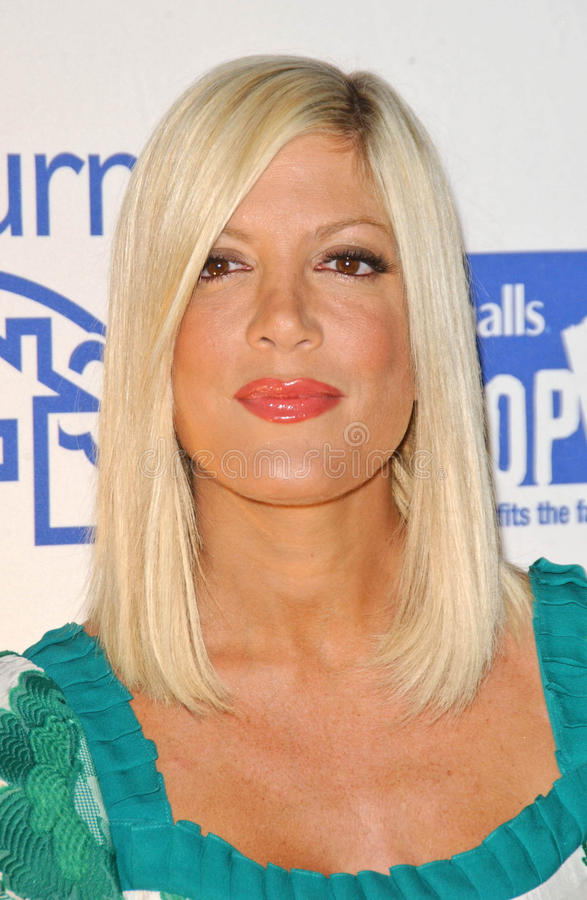 Download Tori Spelling editorial stock photo. Image of anniversary - 24036773