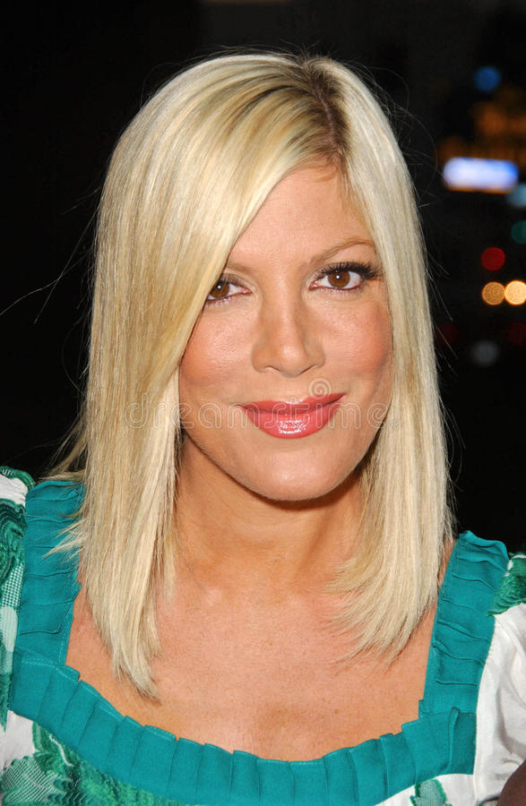 Download Tori Spelling editorial stock photo. Image of shelter - 24197158