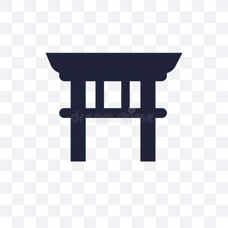 Torii bramy przejrzysta ikona Torii bramy symbolu projekt od Archi royalty ilustracja