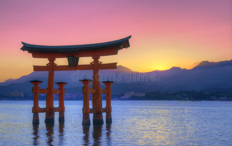 Torii di Miyajima fotografia stock libera da diritti