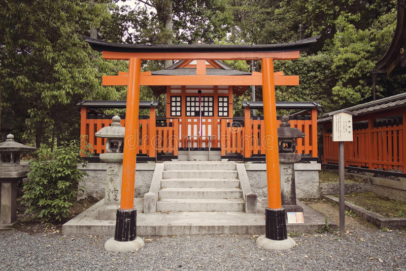 Torii en Fushimi Inari fotografía de archivo