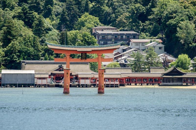 Torii -  floating gate of Miyajima (Itsukushima ) island. Japan stock photo