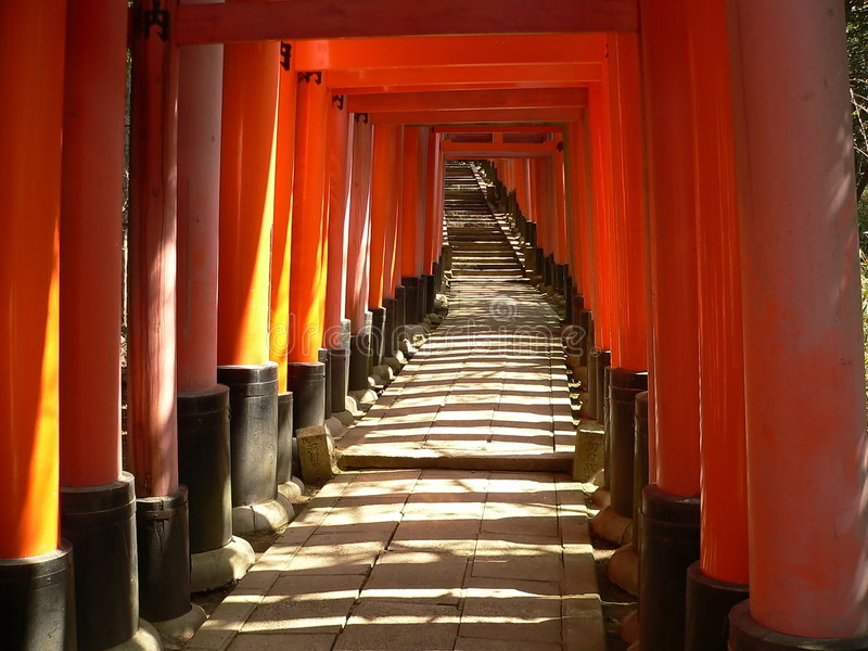 Torii At Fushimi Inari Shrine Royalty Free Stock Image