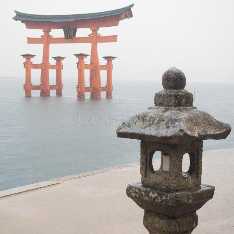 Torii Gate in the Ocean royalty free stock photography