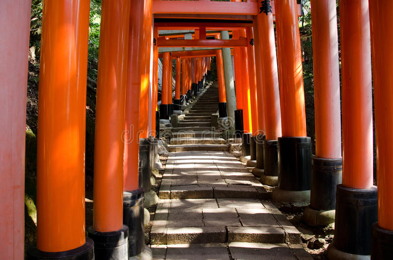 Download Torii Gates At Inari Shrine In Kyoto Stock Photo - Image of inscription, japan: 22827356
