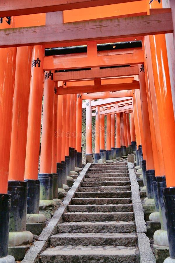 Toriipoorten, Kyoto royalty-vrije stock fotografie