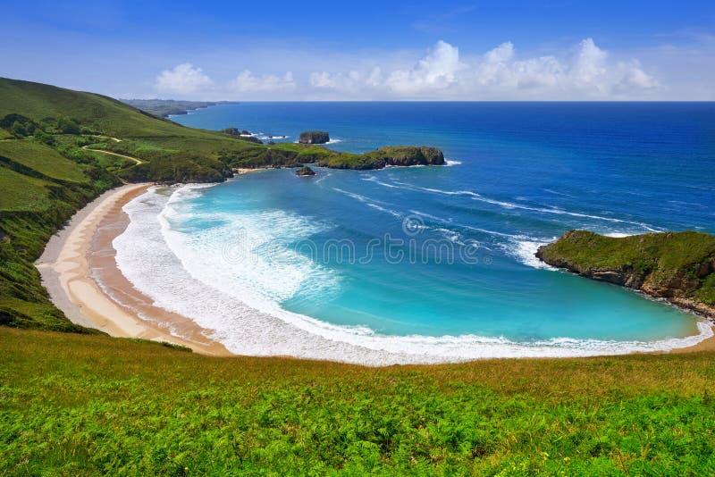 Torimbia beach in Asturias near Llanes Spain. Torimbia beach in Asturias near Llanes of Spain royalty free stock photo