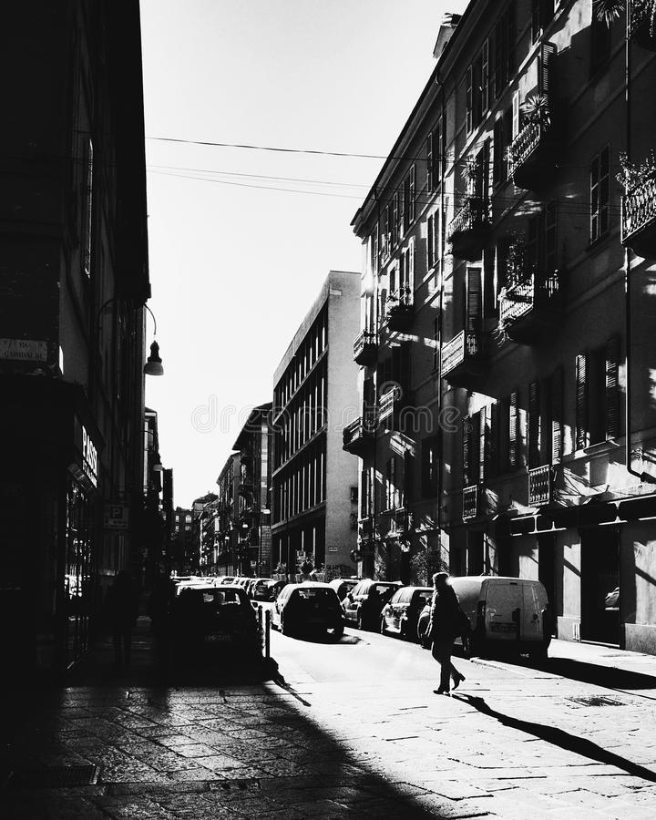 Torino in bianco e nero fotografia stock
