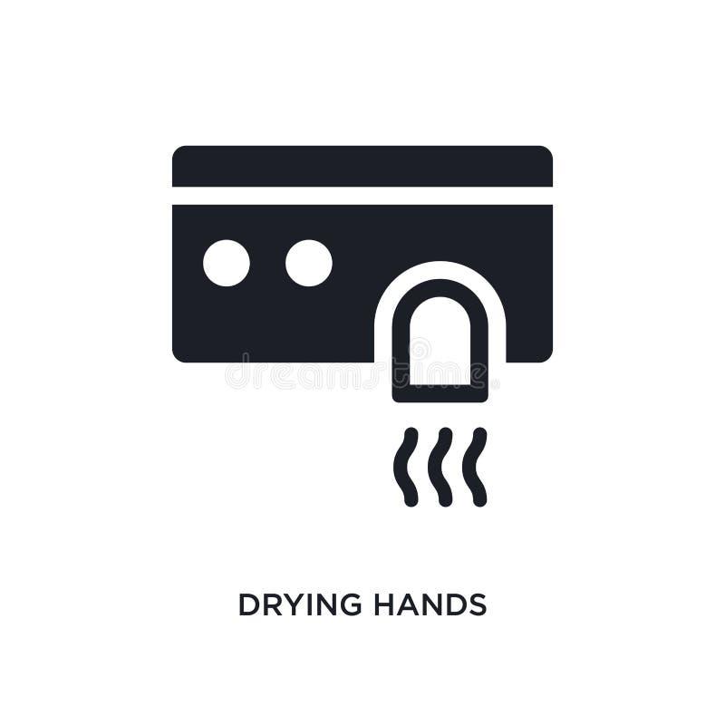 torka den händer isolerade symbolen enkel beståndsdelillustration från hygienbegreppssymboler torka för logotecken för händer red vektor illustrationer