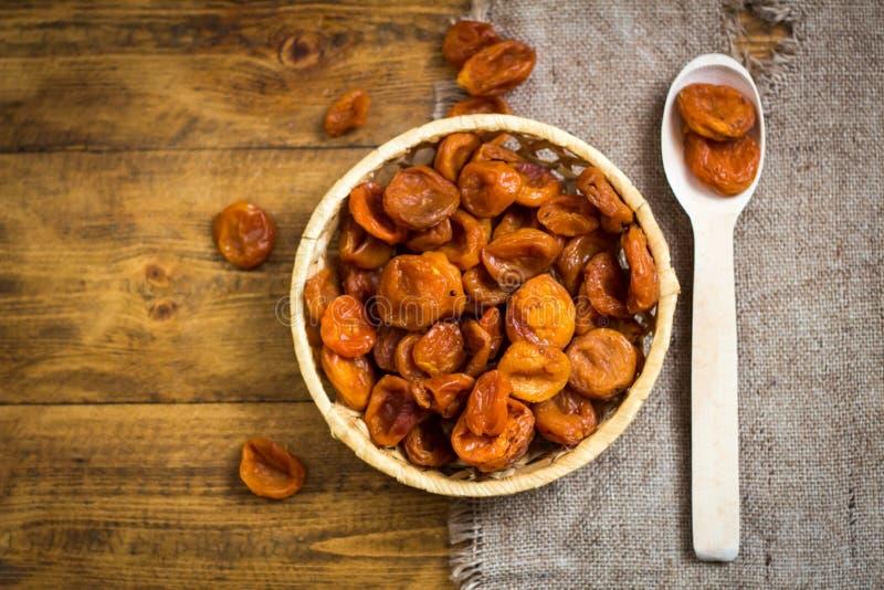 Torkad aprikos-torkad aprikosfrukt royaltyfria bilder