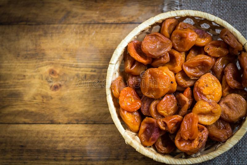 Torkad aprikos-torkad aprikosfrukt royaltyfri foto