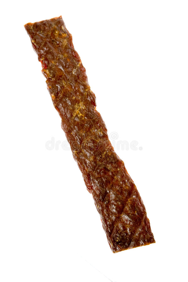 torkad beefstick royaltyfri bild