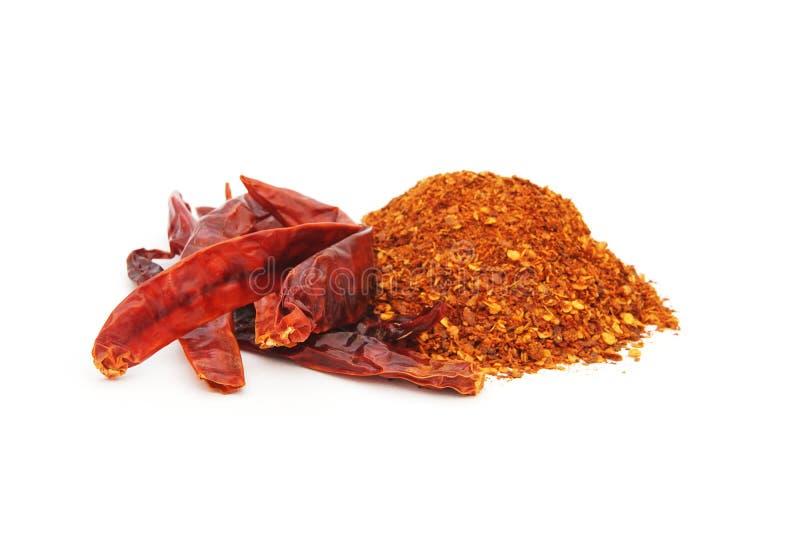 Torkad chili och kajennpeppar fotografering för bildbyråer