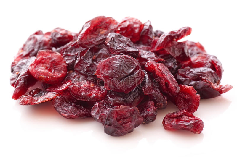 torkad cranberry arkivbilder
