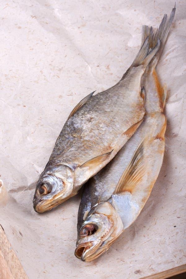 Torkad fisk, caspian mört arkivfoton
