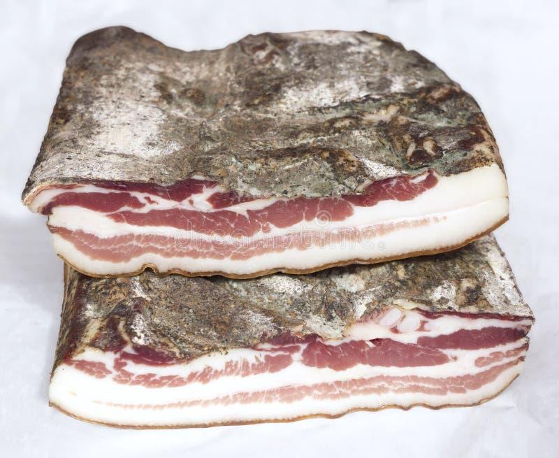 Torkad grisköttbacon royaltyfri foto