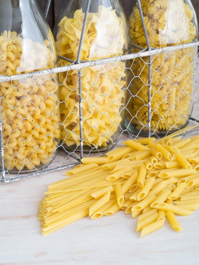 torkad pasta royaltyfri foto