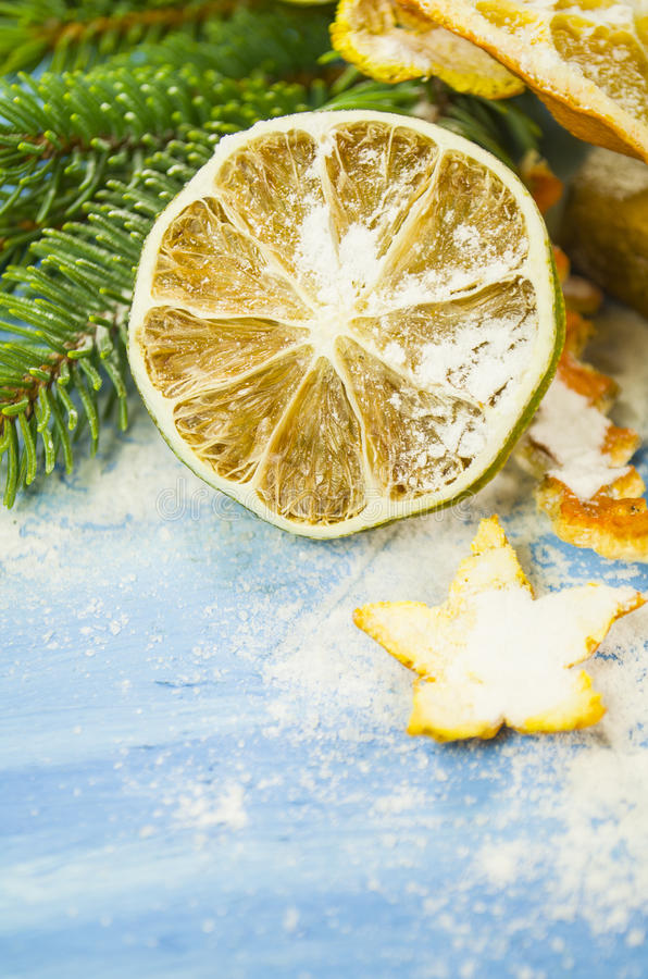 torkade apelsiner arkivbild