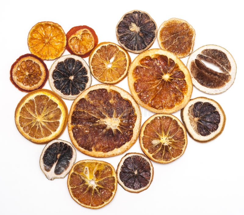 Torkade apelsiner, garnering fotografering för bildbyråer