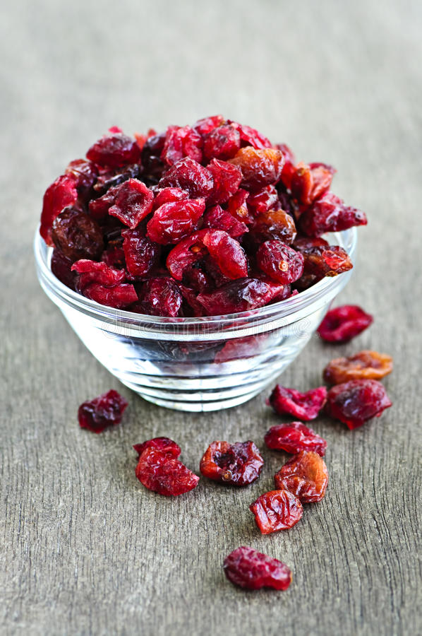torkade bunkecranberries royaltyfri bild