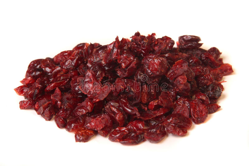 Torkade cranberries royaltyfri bild