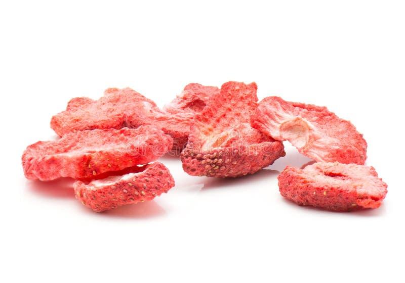 torkade jordgubbar arkivfoto