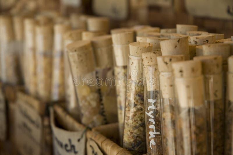 torkade kryddor arkivbild