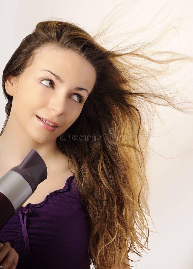 torkande hår fotografering för bildbyråer