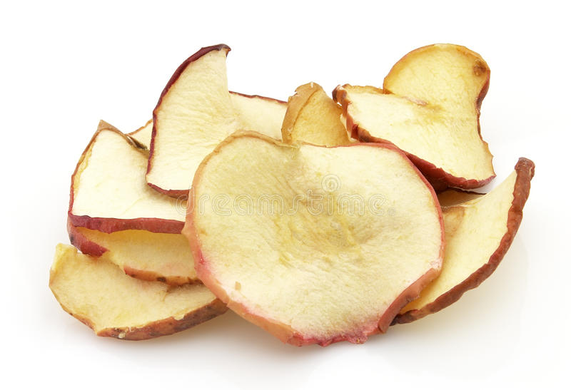 torkat äpple royaltyfri fotografi