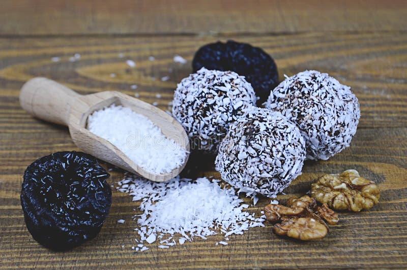 Torkat - fruktbollar royaltyfri fotografi