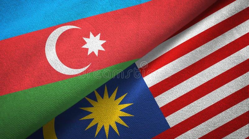 Torkduk f?r Azerbajdzjan och Malaysia tv? flaggatextil, tygtextur vektor illustrationer